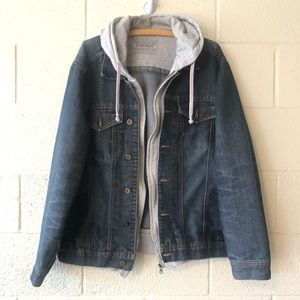 Basement Hoodie Jean Jacket Men's XL